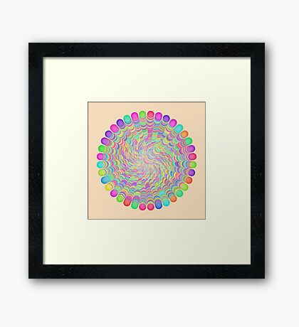 Random Color Generation Framed Print
