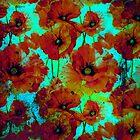 Marsala poppies by agnès trachet