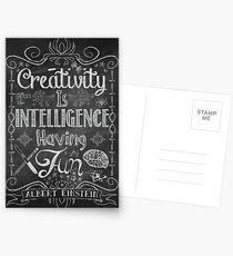 Creativity is Intellegence Having Fun Postcards