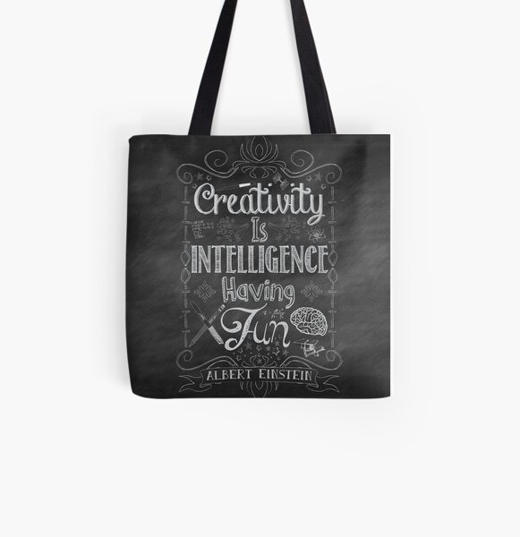 Creativity is Intellegence Having Fun All Over Print Tote Bag