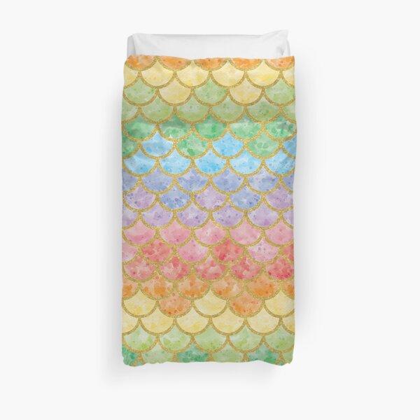 Funny Mermaid Scales Pattern 21 Duvet Cover