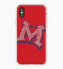 Miller M (Grey & Navy) iPhone Case