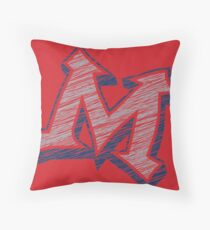 Miller M (Grey & Navy) Throw Pillow