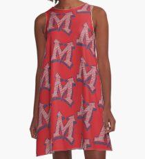 Miller M (Grey & Navy) A-Line Dress