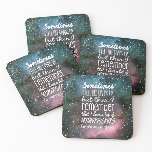 Prove Them Wrong.  Coasters (Set of 4)