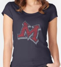 Miller M (Red & Grey) Women's Fitted Scoop T-Shirt