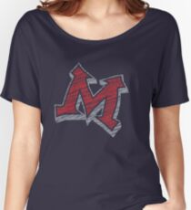 Miller M (Red & Grey) Women's Relaxed Fit T-Shirt