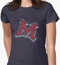 Miller M (Red & Grey) Women's Fitted T-Shirt
