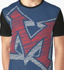 Miller M (Red & Grey) Graphic T-Shirt