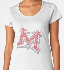 Miller M (Red & Grey) Women's Premium T-Shirt
