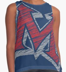 Miller M (Red & Grey) Contrast Tank