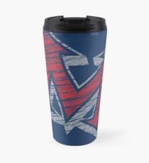 Miller M (Red & Grey) Travel Mug