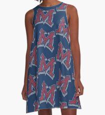 Miller M (Red & Grey) A-Line Dress