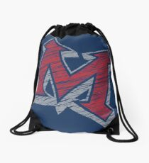 Miller M (Red & Grey) Drawstring Bag