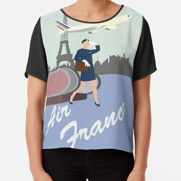 Air France Chiffon Top