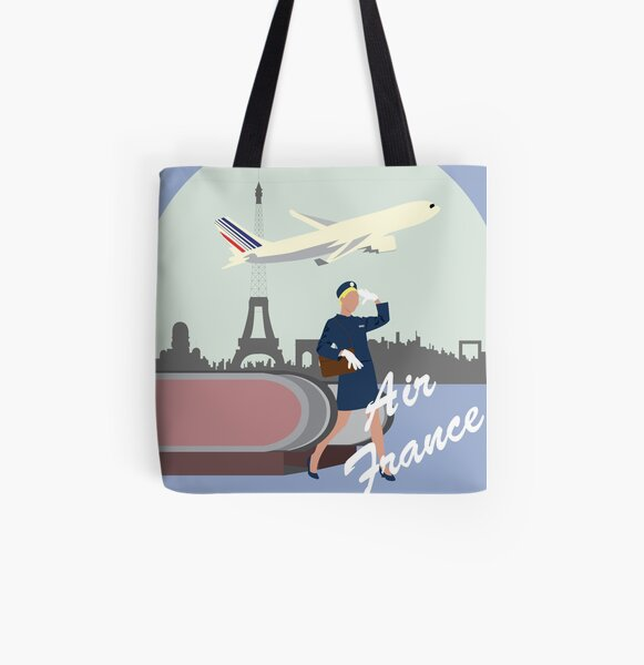 Air France All Over Print Tote Bag