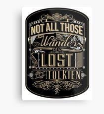 Wandering Typography (STICKER) Metal Print