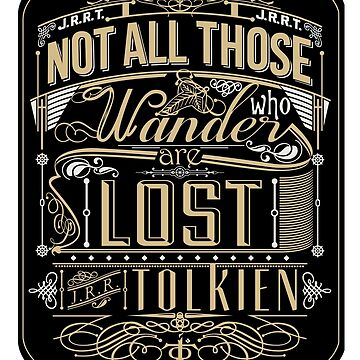 Wandering Typography (STICKER) by JoshuaStorms