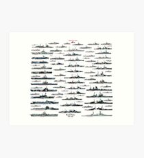 Royal Navy WW2 Art Print