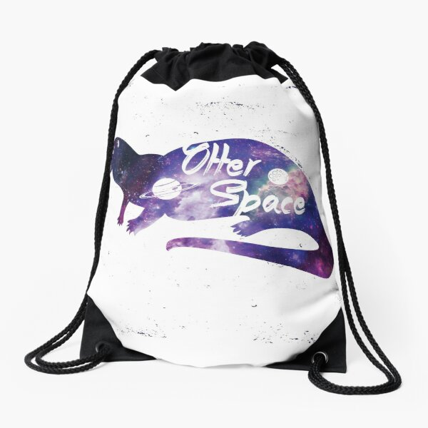 Otter Space Drawstring Bag