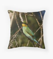 Sunset Bee-eater Throw Pillow