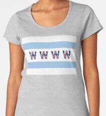 Cubs Win Chicago Flag With Red/Blue C Women's Premium T-Shirt