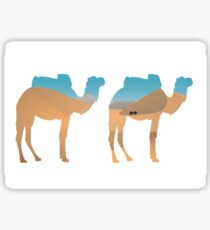 Camels in the desert Sticker