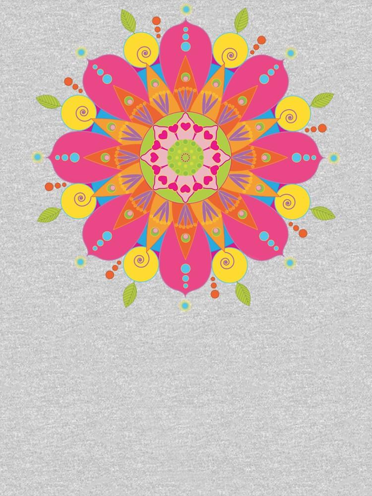 Mandala fleur aux couleurs vives by RosaLeeDesign