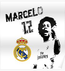Marcelo 12 - Real Madrid Poster