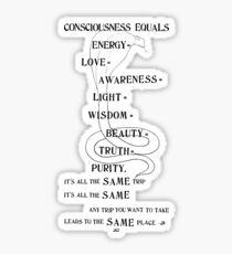 It's All The Same Trip - Ram Dass, Be Here Now, Yogi, Philosophy, Hippie, Spirituality, Ego, Buddhism Sticker