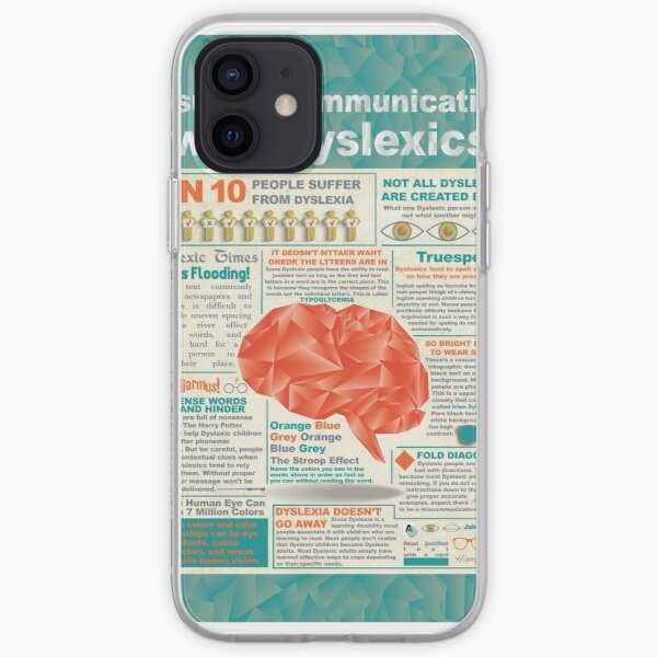 Visually Communicating with Dyslexics Infrographic iPhone Soft Case