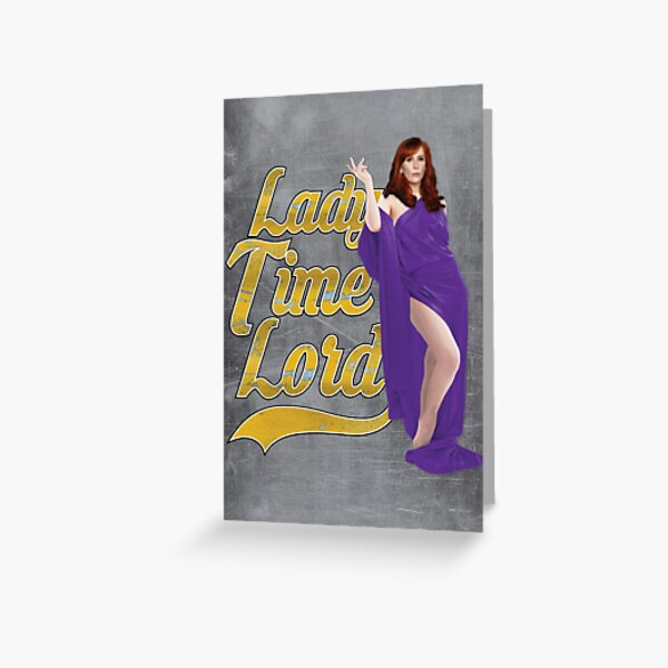 Lady Time Lord Greeting Card