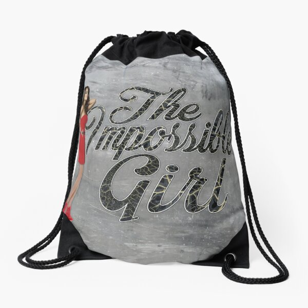 The Impossible Girl  Drawstring Bag