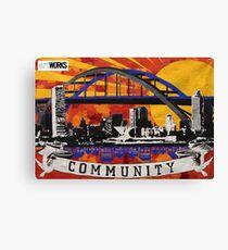 Communities That Care Mural Canvas Print