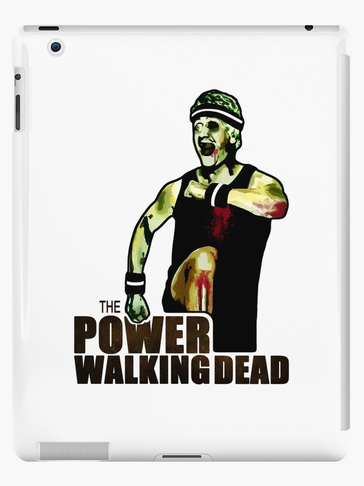 The Power Walking Dead (on White) [iPad / Phone cases / Prints / Clothing / Decor] by Didi Bingham