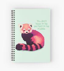 """Cuaderno de espiral """"No tienes que ser perfecto para ser amable"""" Panda rojo"""