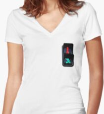 stop, go, astroboy Women's Fitted V-Neck T-Shirt
