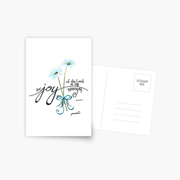 The Joy of the Lord is my Strength outline by Jan Marvin Postcard