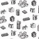 Black & White Birthday Pattern by Chrissy Curtin by Chrissy Curtin