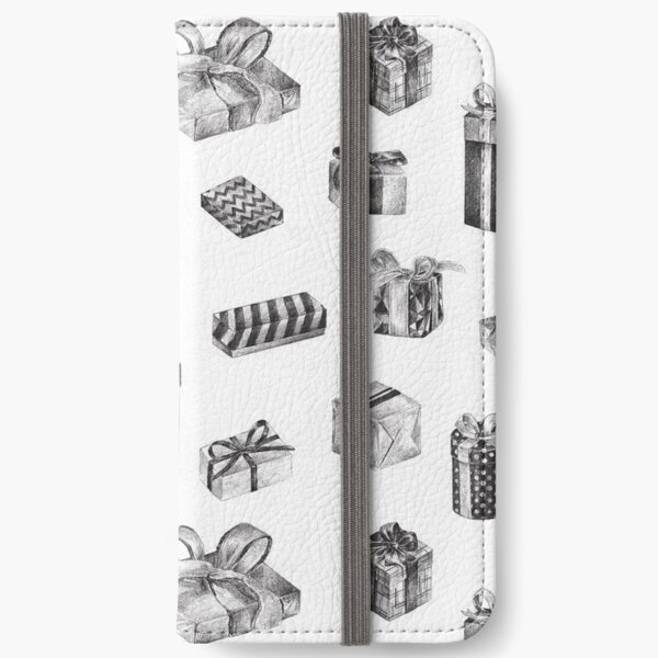 Black & White Birthday Pattern by Chrissy Curtin iPhone Wallet