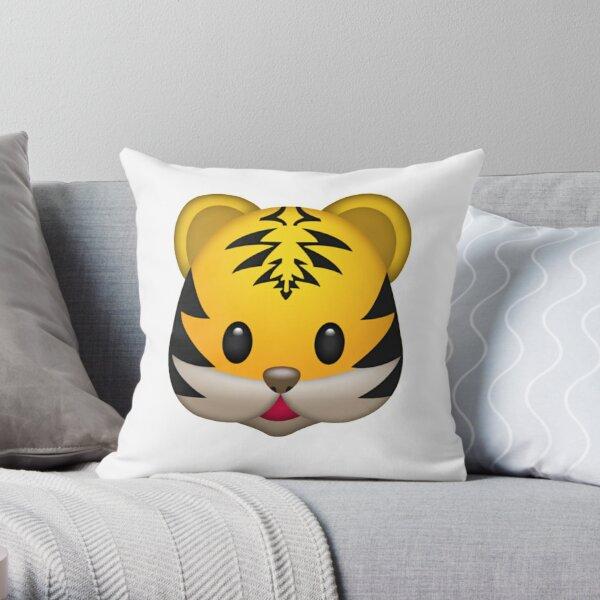 Cute Tiger Emoji Throw Pillow