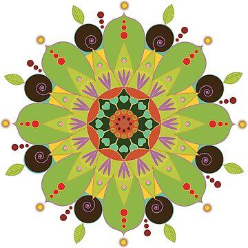 «Mandala fleur, vert» par RosaLeeDesign