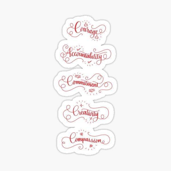Redbubble Values Stickers Sticker