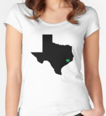 Houston Love – Texas Flooding Awareness Women's Fitted Scoop T-Shirt