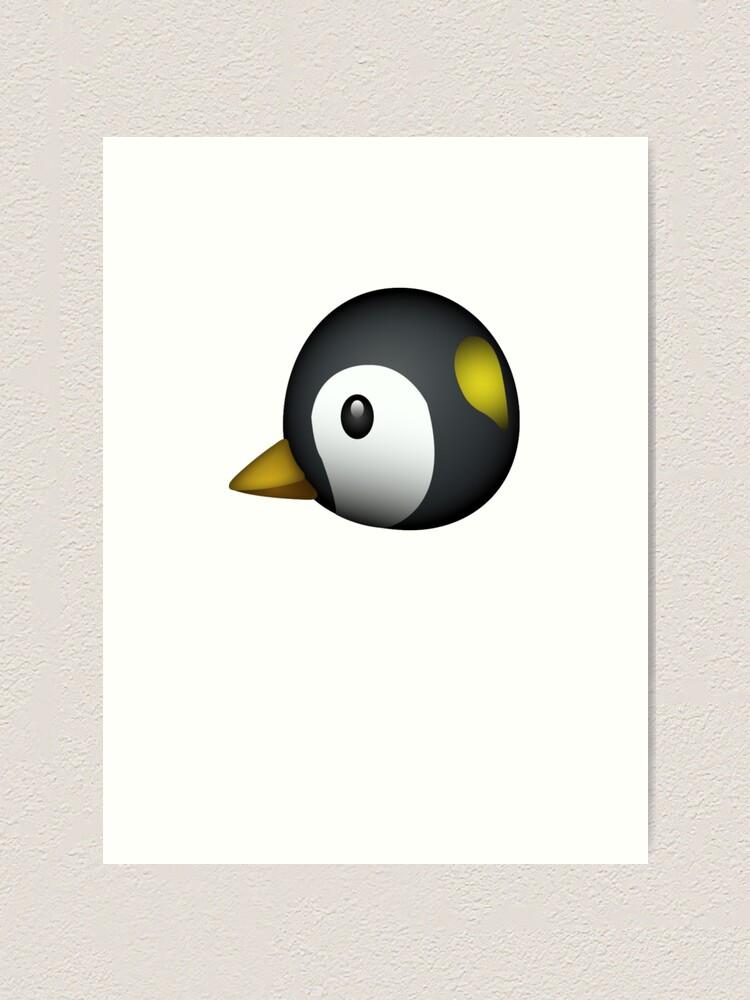 Impression Artistique Emoji Mignon De Pingouin Par Printpress Redbubble