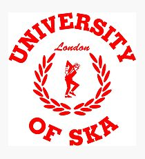 University of Ska (London red) Photographic Print
