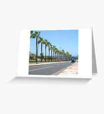 The streets are paved with trees  Greeting Card