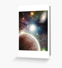 PLANETS IN OUTER SPACE Greeting Card