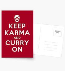 Keep Karma And Curry On [iPad / Phone cases / Prints / Clothing / Decor] Postcards