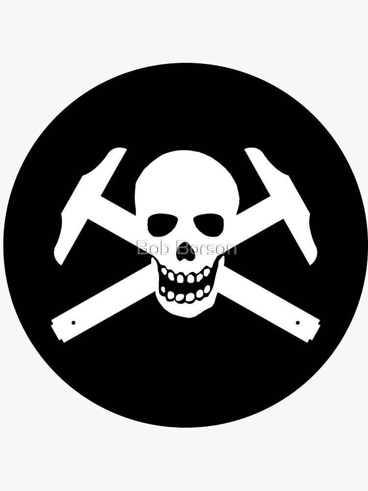 Architectural Jolly Rogers White Image (sticker only) by bobborson